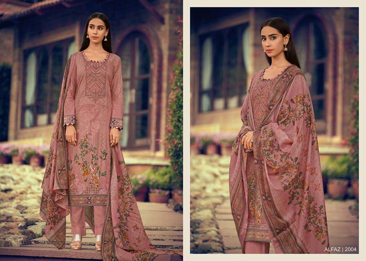 House Of Lawn Alfaz Designer Karachi Dress Material