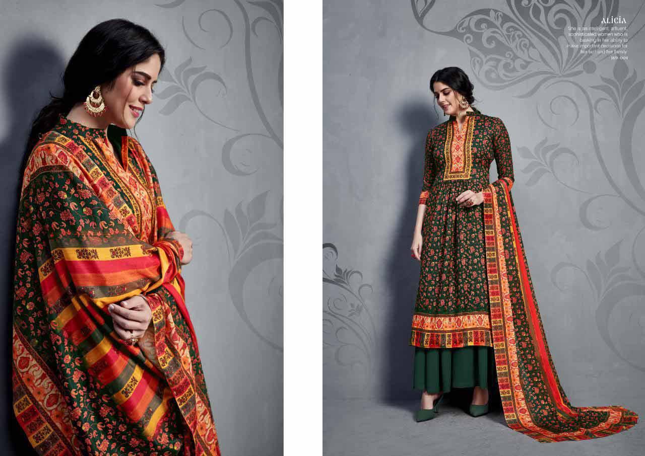 Alicia Sargam Prints Silk Dress Materials Catalog