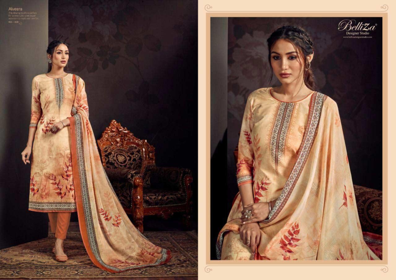 Belliza Alveera Wholesale Cotton Dress Material