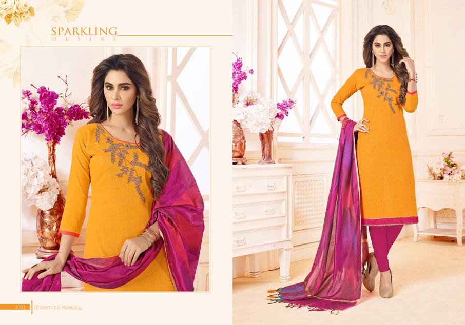 Chandni Gangour Presents Cotton Handwork Dress Material