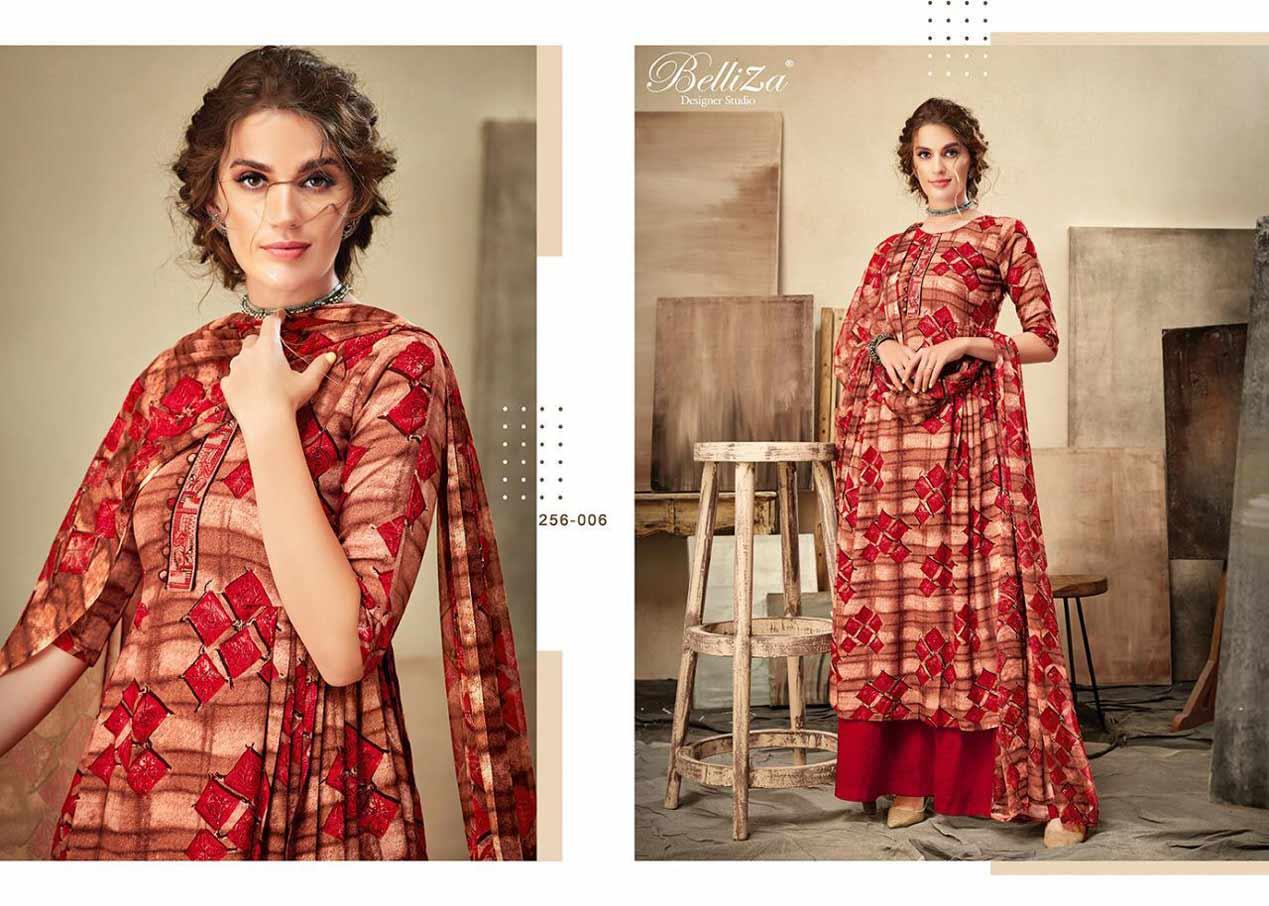 Belliza Cherry Print Embroidery Dresses