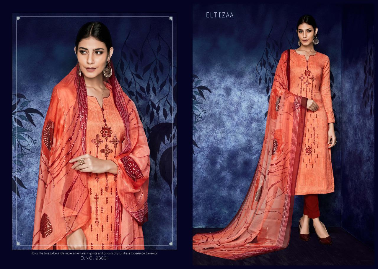 Eltizaa Sargam Prints Pashmina Salwar Kameez