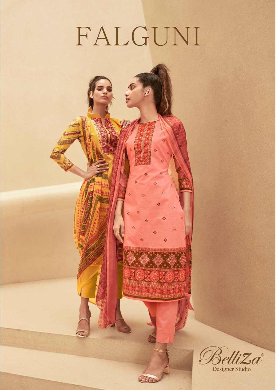 Falguni Cotton Dress Material Catalogue Set