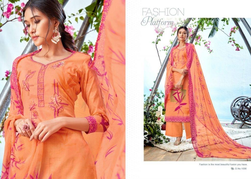 Jannat Azara Cambric Print Embroidery Dresses