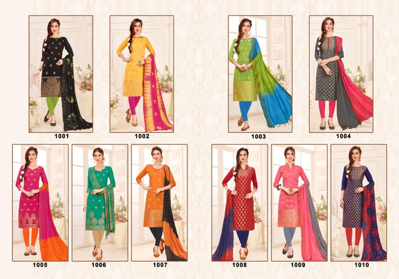 Kanchipuram Banarasi Jacquard Dress Material Catalog