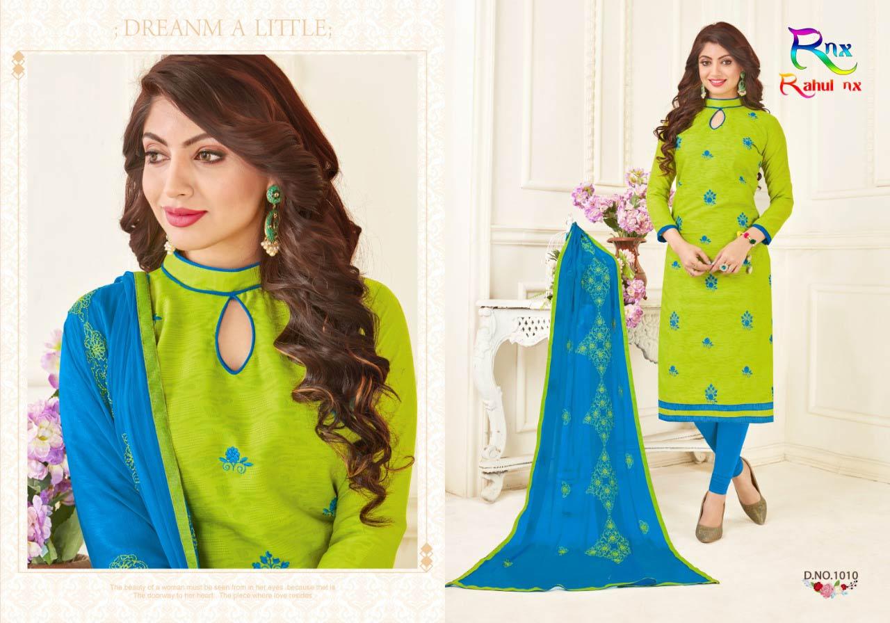 Kikat Rahul Nx Bombay Jacquard Embroidery Dress Material