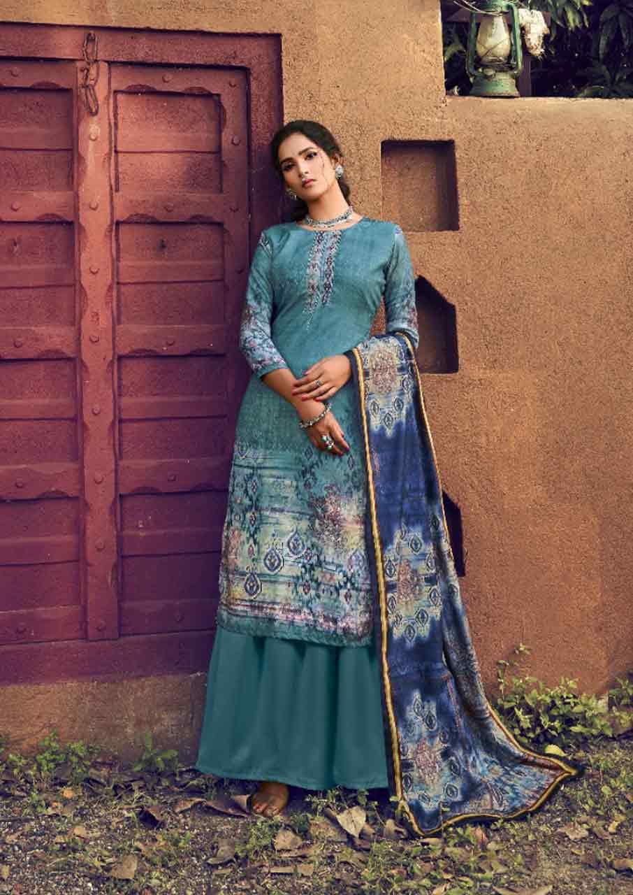 Lisaa Pashmina Khatli Work Salwar Suits Garment