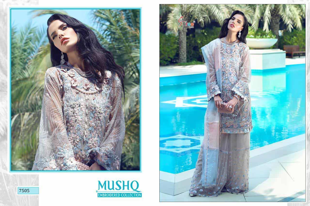 Shree Fab Mushq Net Fabric Salwar Dresses Catalog