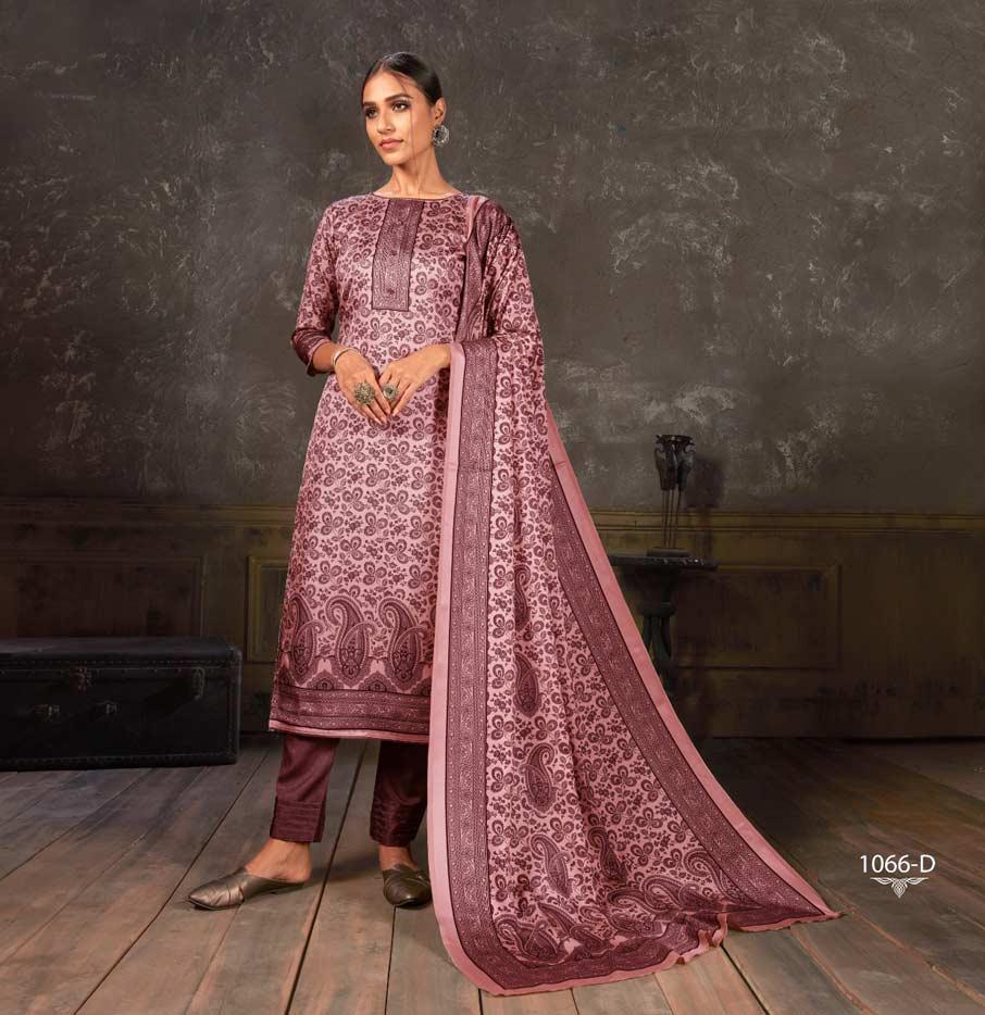 Noor Tusser Silk Dress Material Catalogue Set