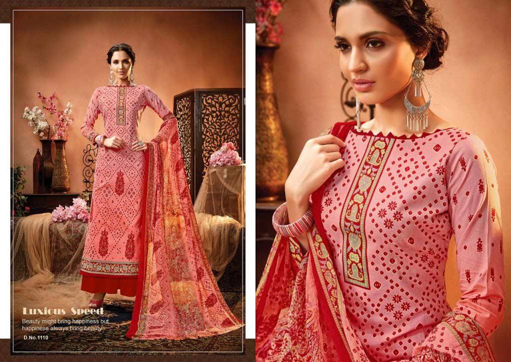 Satrangi-Bandhej Alisa Cotton Print Dress Materials