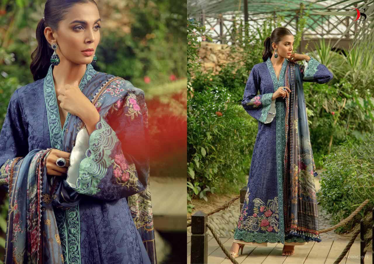 Deepsy Zarquash Embroidered Karachi Dress Material