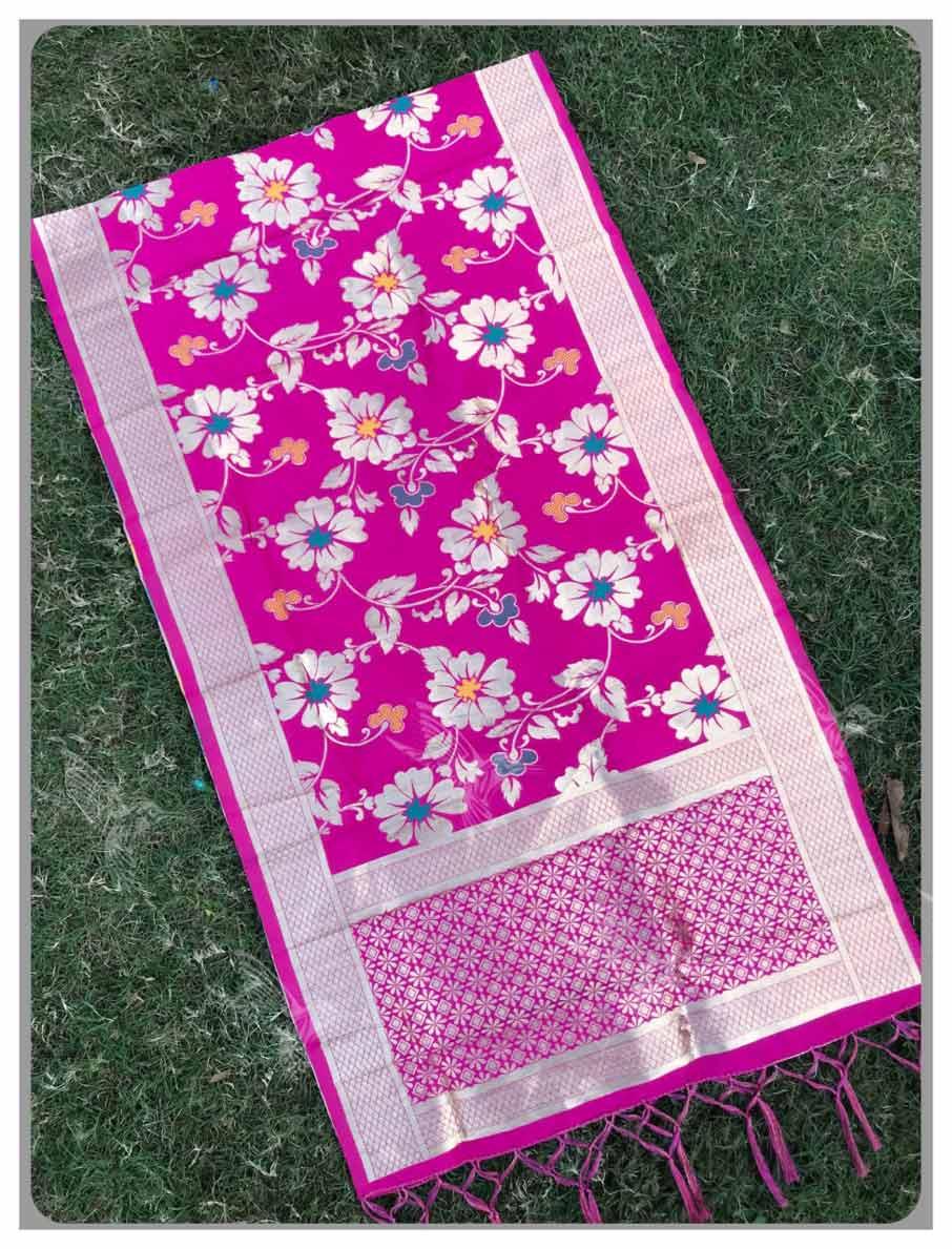 Flower Weaving Zari Work Dupatta for Salwar Kameez
