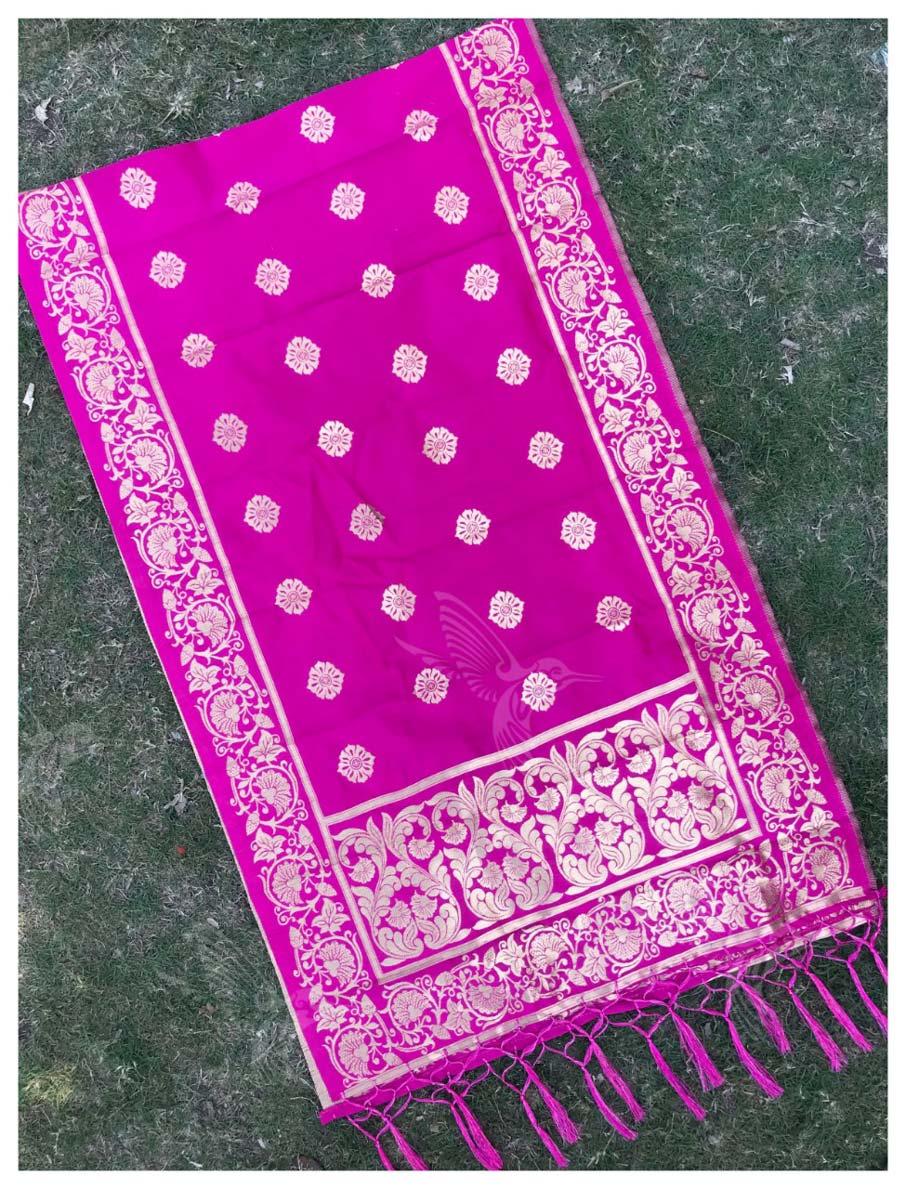 Silk Zari Work Banarasi Dupatta Catalog Suppliers