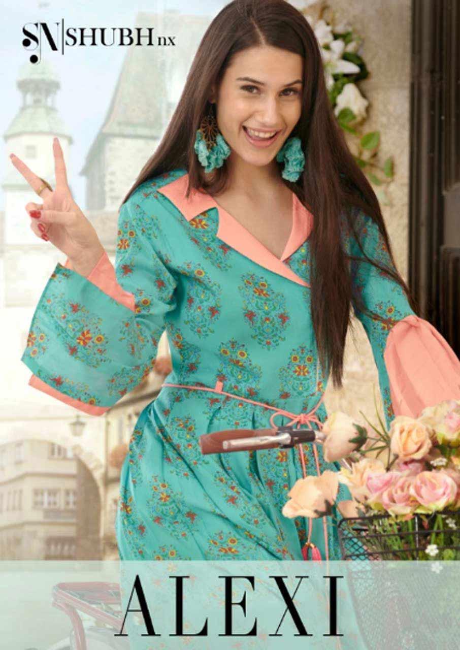 Shubh Nx Alexi Rayon Print Wholesale Gown