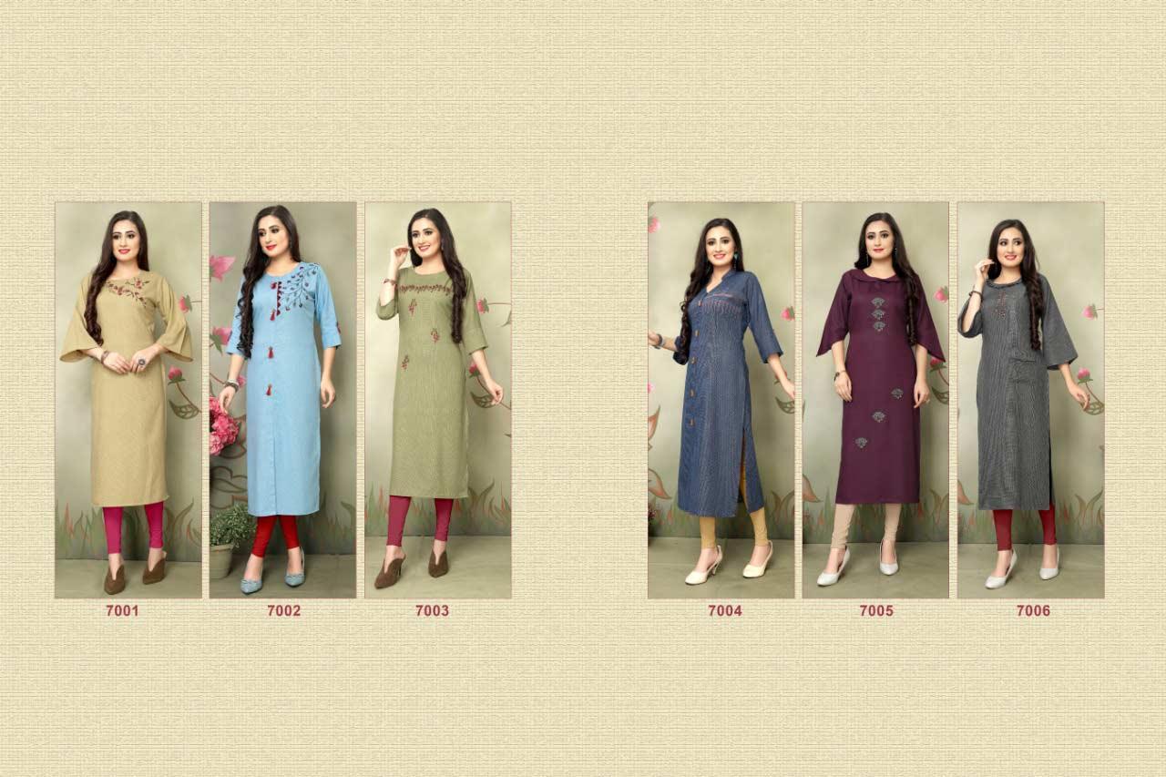 Luxuria Design Alpha Self Checks Kurti Catalog