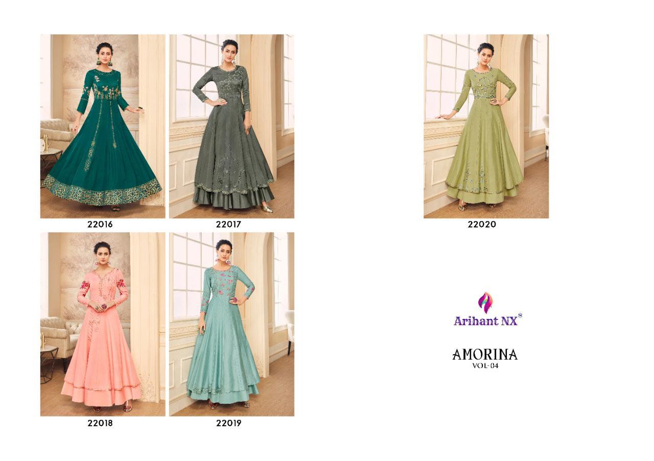 Arihant Nx Amorina-4 Muslin Wholesale Gown