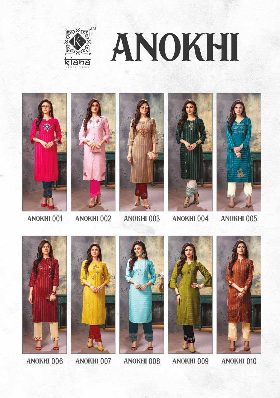 Kiana Anokhi Wholesale Pant Kurti Catalog