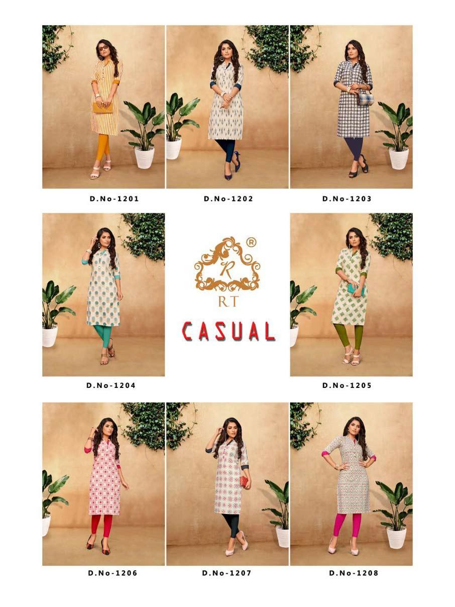 Casual RT Design Cotton Flex Printed Kurti