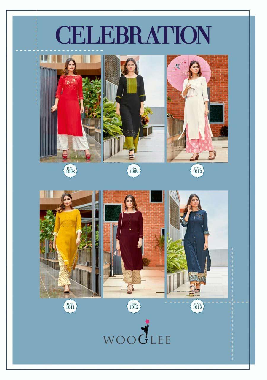 Celebration Wooglee Fashion Palazzo Kurti Catalog