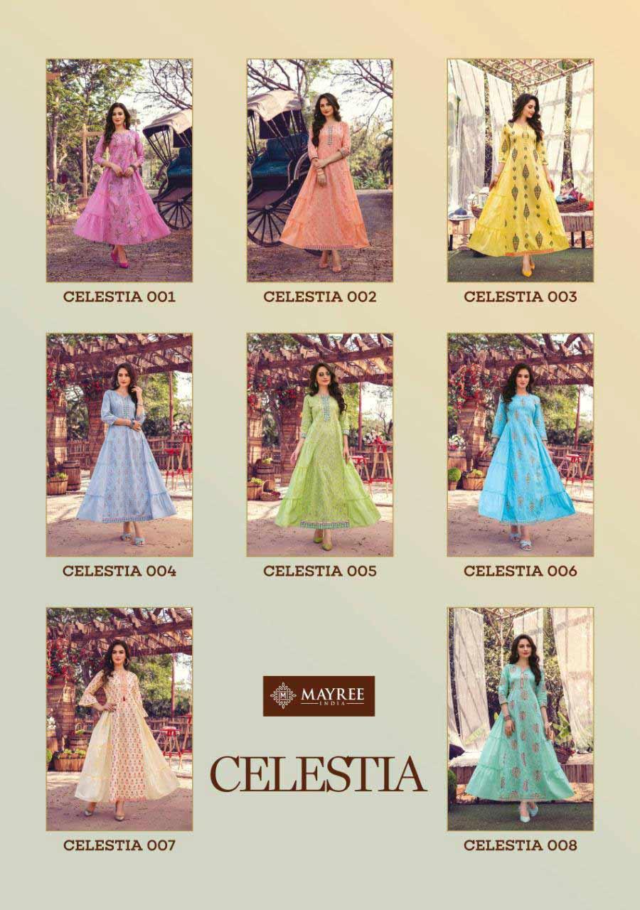 Celestia Mal Cotton Wholesale Kurti Catalog