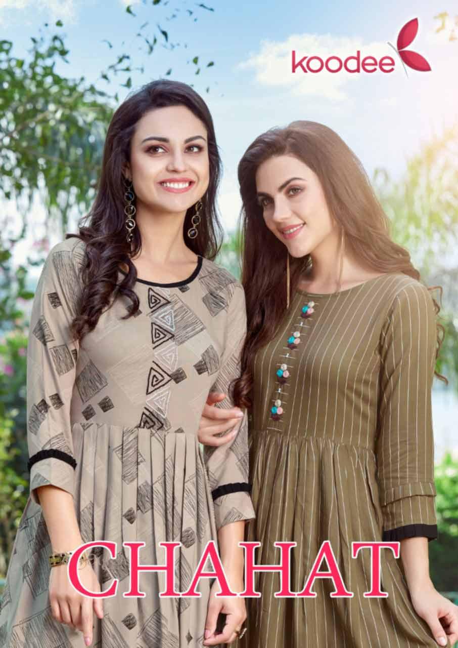 Chahat Two Layer Wholesale Kurti Catalog