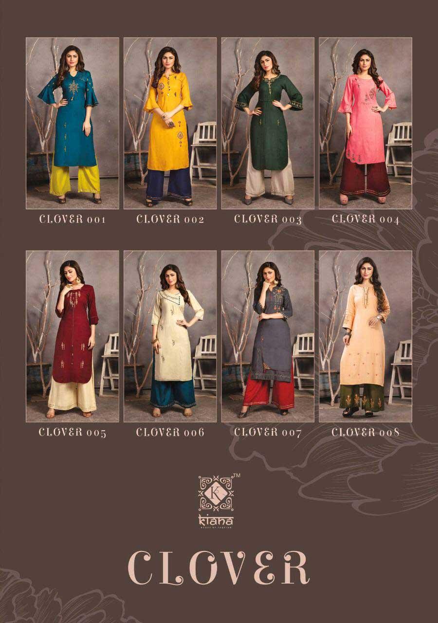 Clover Kiana Rayon Slub Wholesale Kurti Catalog
