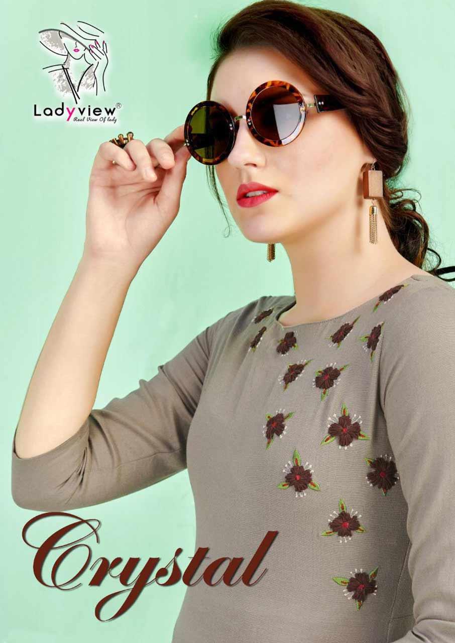 Crystal Ladyview Cotton Embroidery Kurtis Set