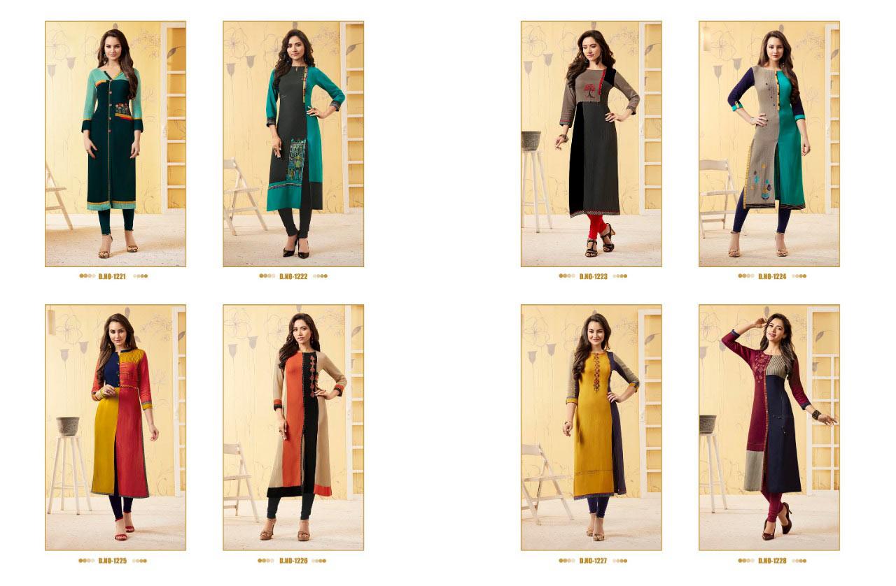 Rangoon Elaichi Casual Wear Straight Rayon Kurtis Collection