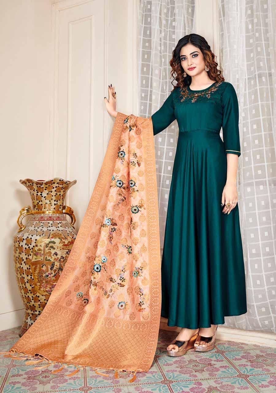Fabulous Muslin Handwork Gown Catalog Set