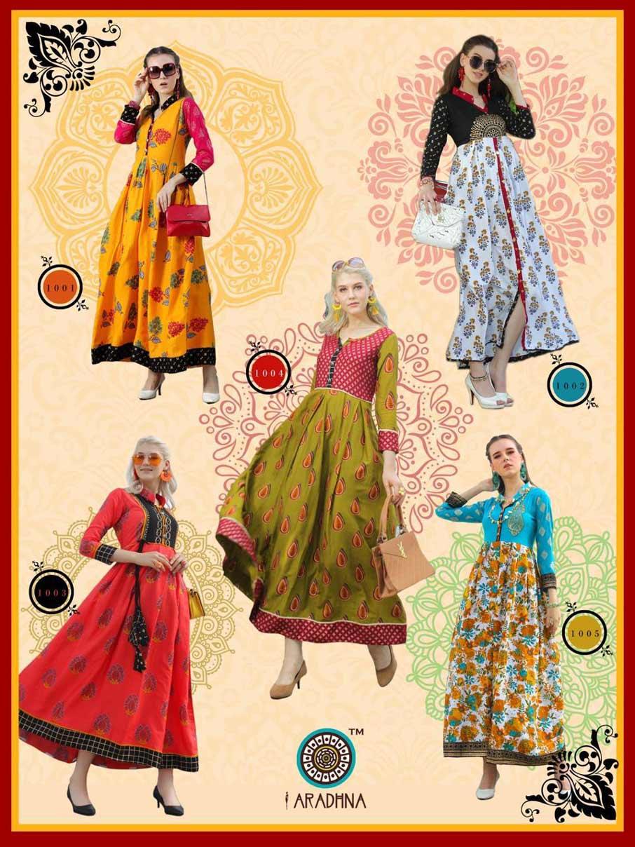 Glamour Aradhna Rayon Ordinary Print Kurtis Set