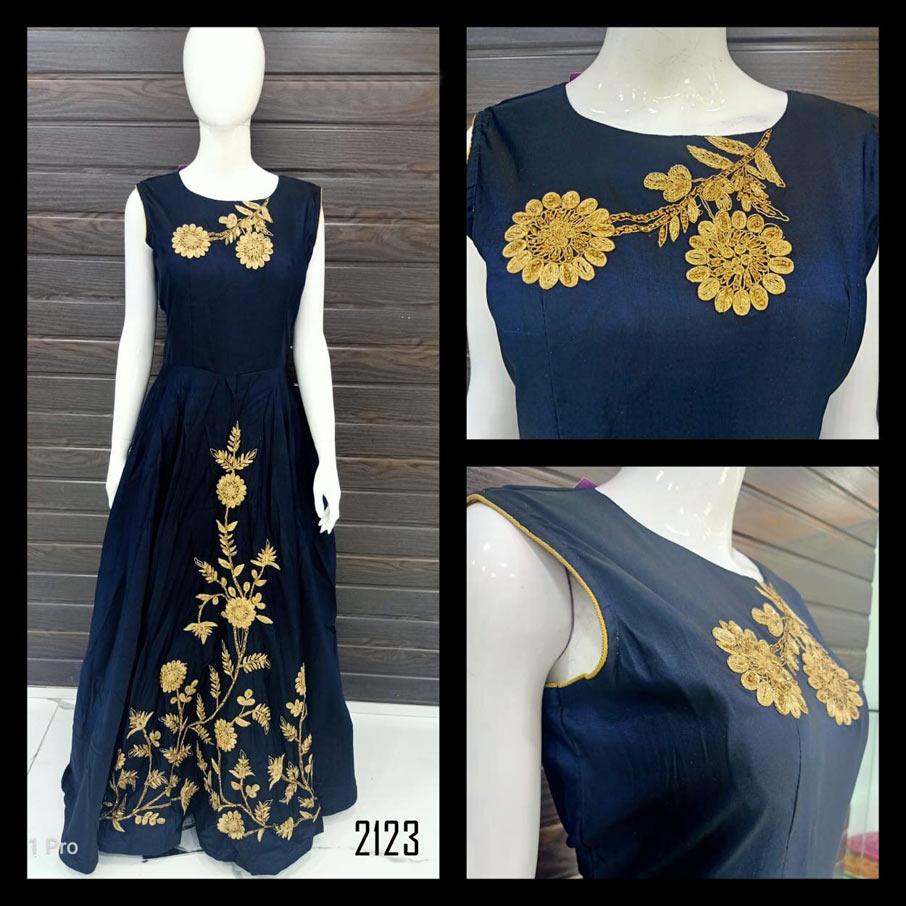 Fabfirki Heavy Design Fancy Handwork Embroidery Gown