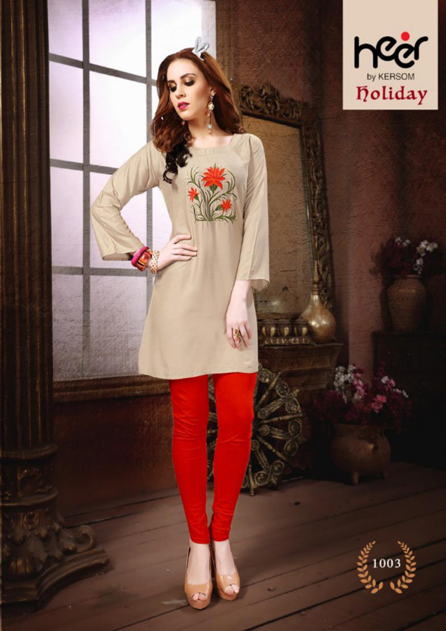 Holiday Cotton Kurti Catalog Design by Heer