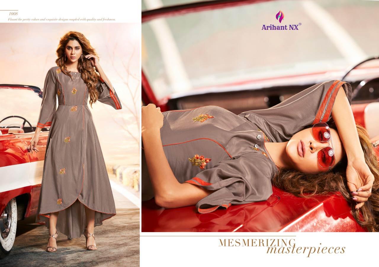 Impressive Arihant Nx Silk A-Line Wholesale Kurti