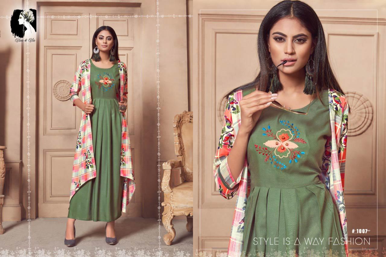 Jessy Viva and Via Launched Anarkali Coti Kurti Set