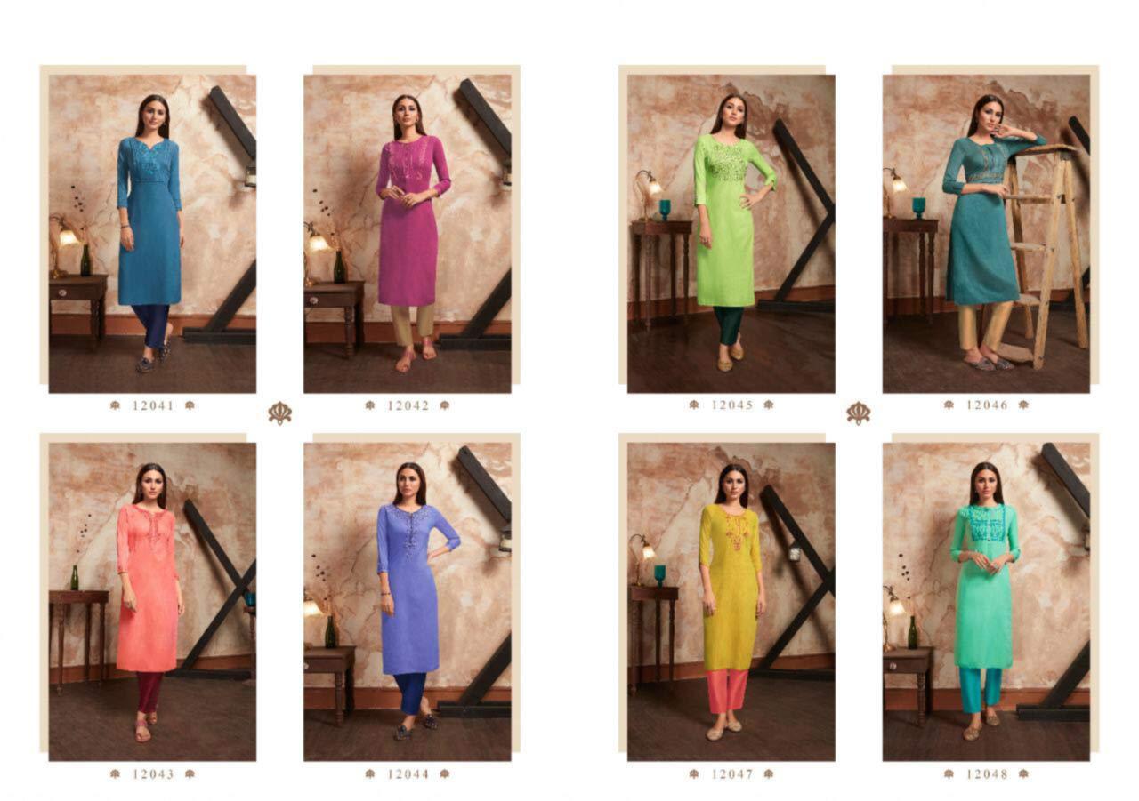 Kivi Two Tone Wholesale Kurtis Catalog