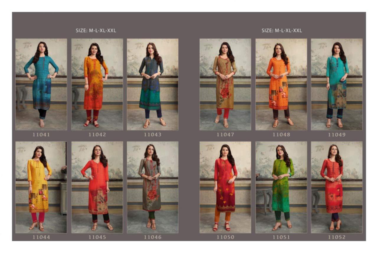 Kajree Lotus Rayon Silk Wholesale Kurti