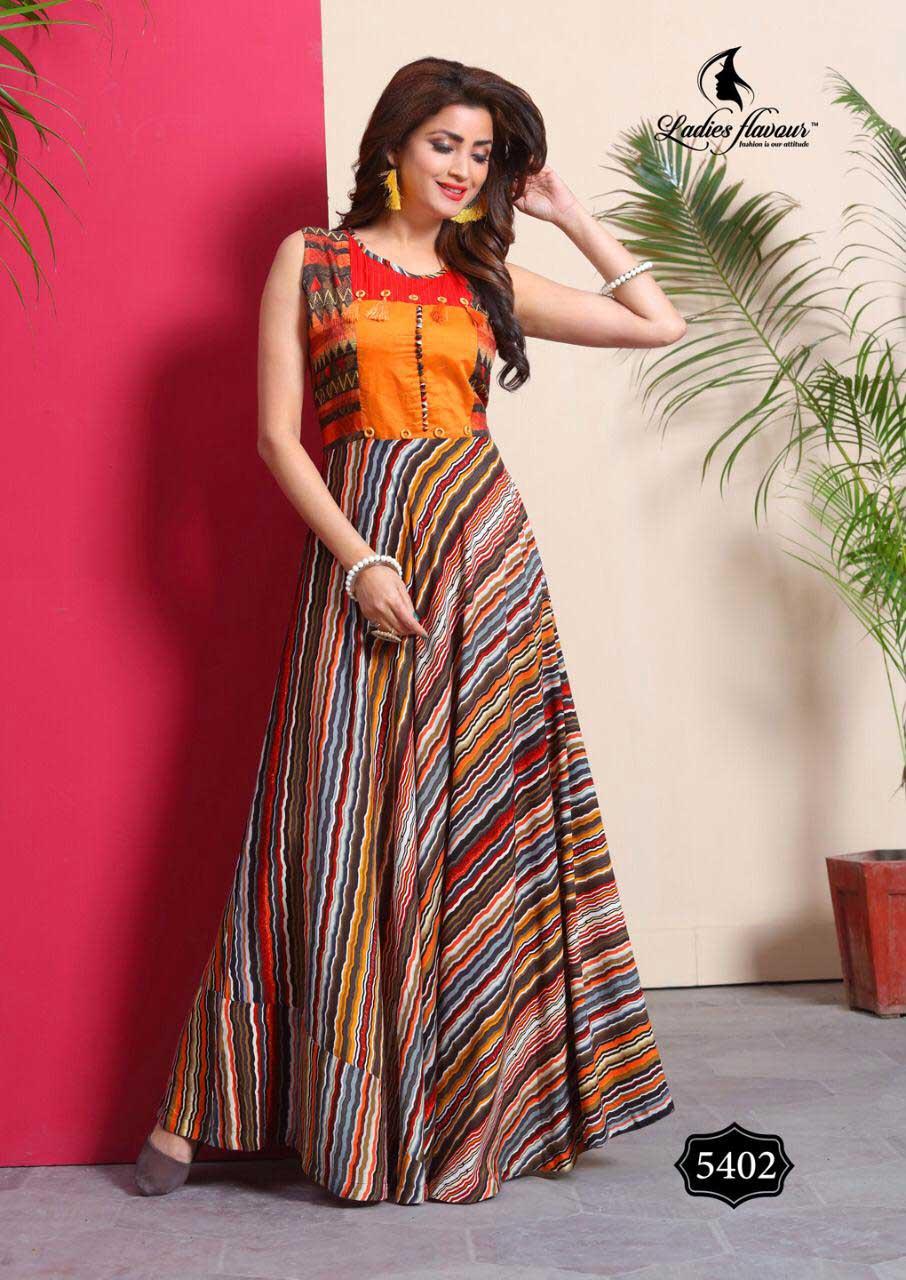 Lovely Ladies Flavour Rayon Foil Print Kurti Sets