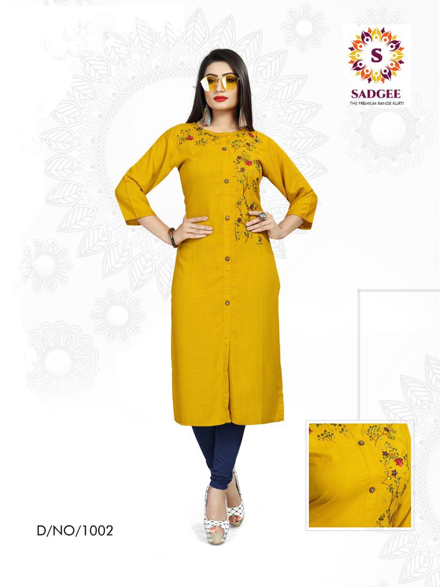 Maitri Sadgee Rayon Mill Dyed Kurti Manufacturer
