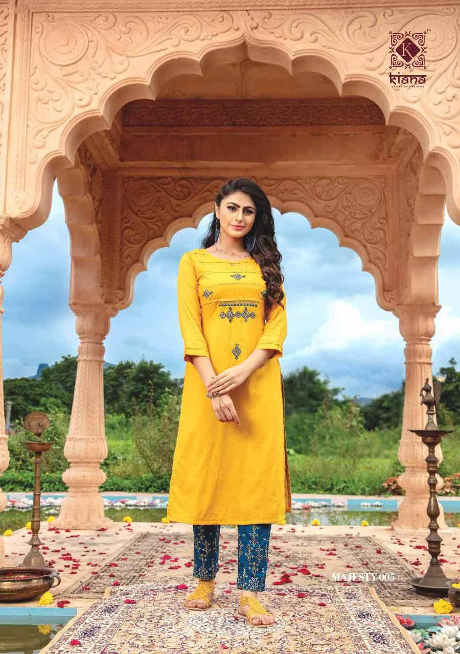 Majesty Designer Cotton Flex Kurti Collection