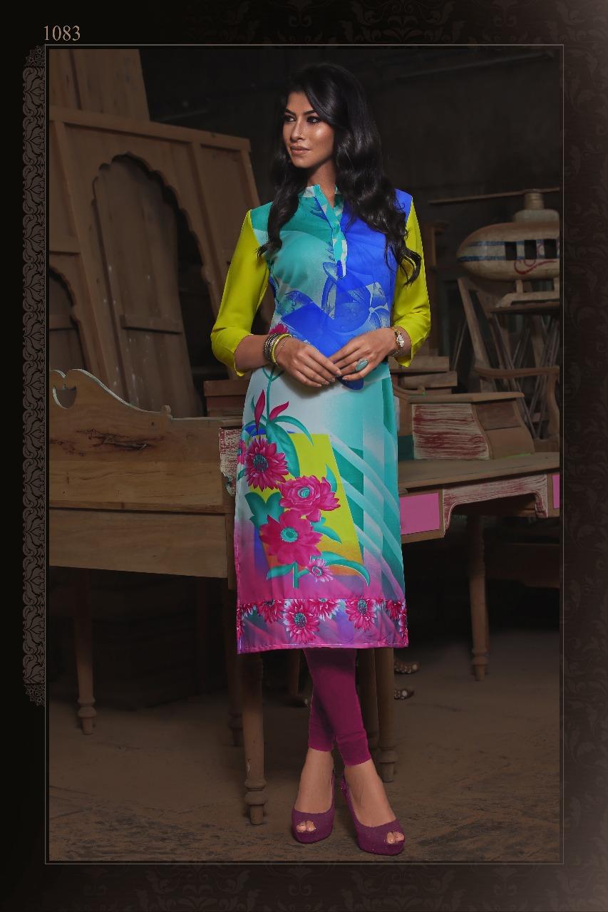 Mawra Manisha Fashion Butter Crepe Kurti