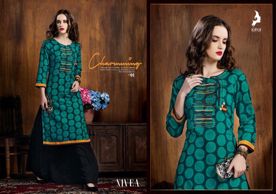 Nivea Kaya Designer Cotton Kurtis Set Collection