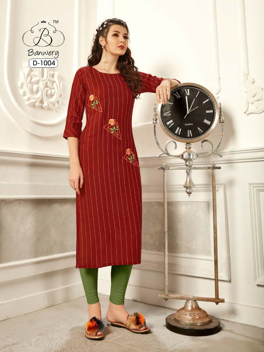 Pannu Weaving Stripe Wholesale Kurti Set