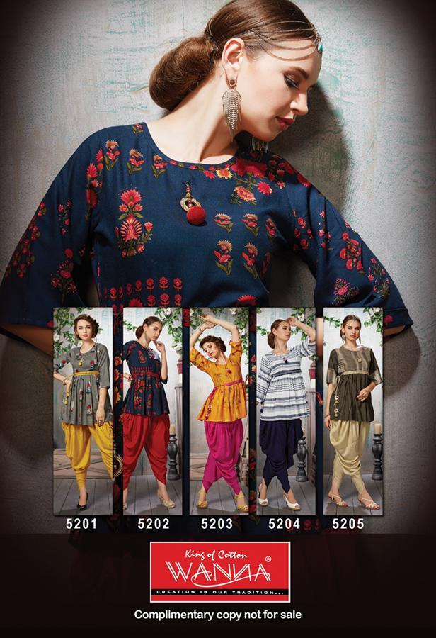 Patola Wanna Designer Dhoti Kurti Catalog