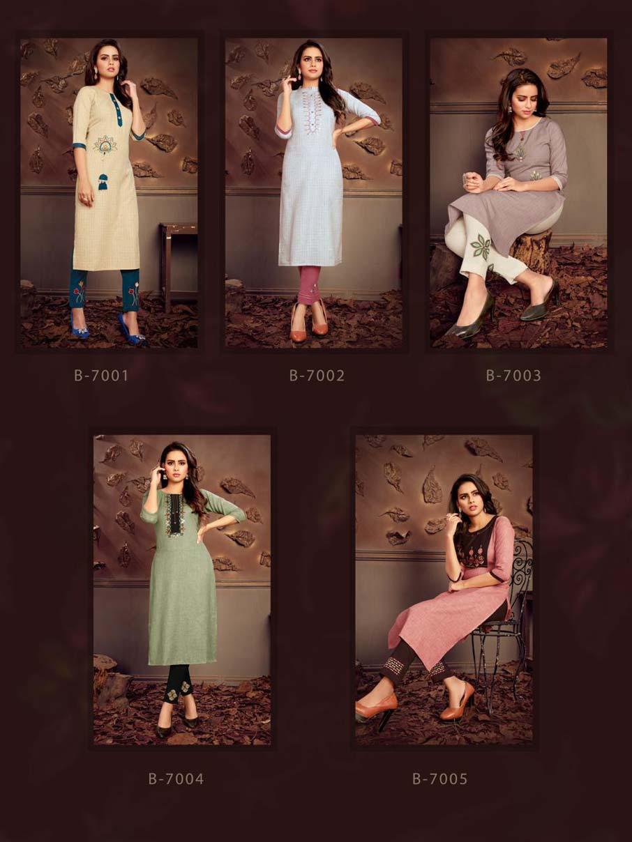Penthouse Fancy fabric Kurti Catalog