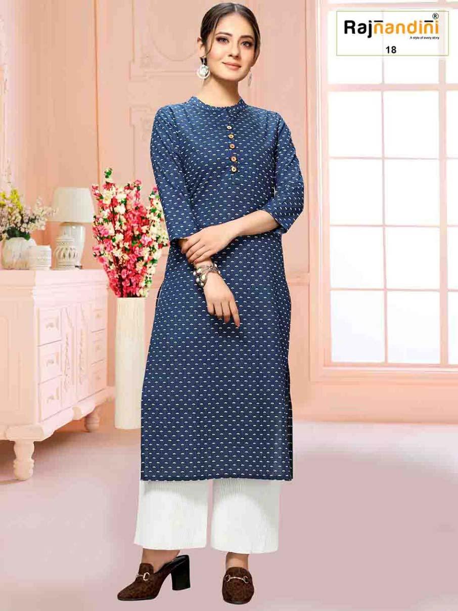 Rajnandini-7 Jaipuri Kurtis Catalogue Garment