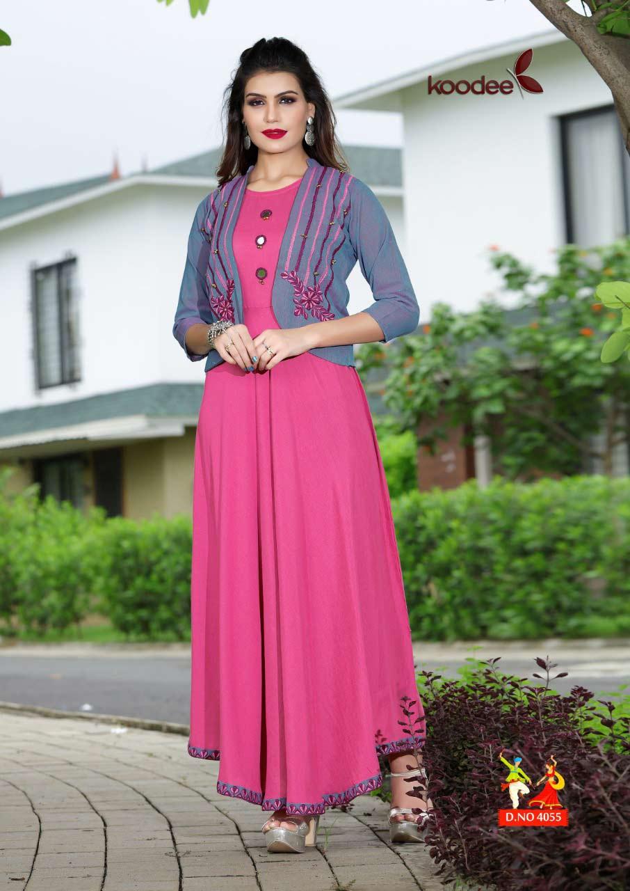 Koodee Rangat Rayon Long Kurta Set