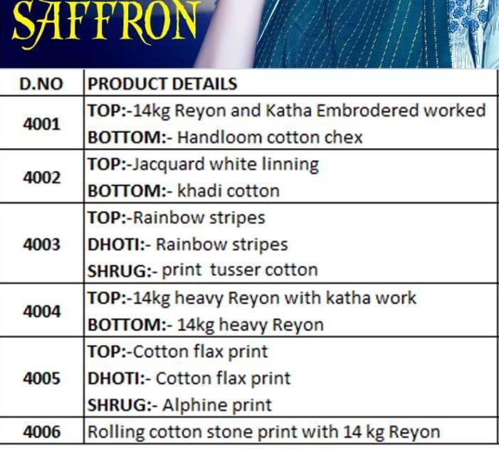 Saffron Cygnus Design Cotton Katha Work Kurtis