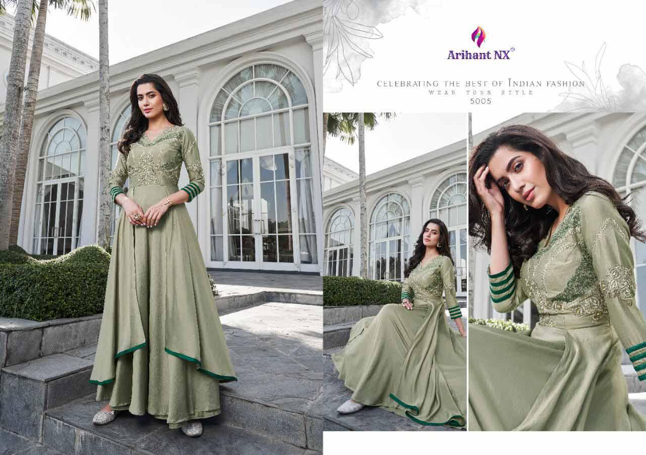 Arihant Nx Simran Soft Silk Wholesale Gown
