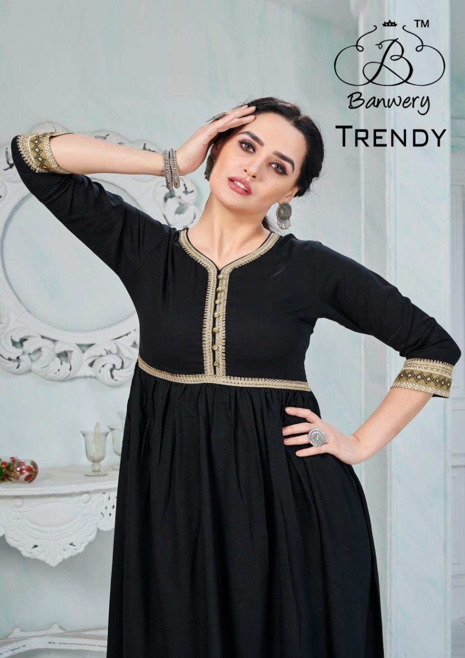 Trendy Rayon Gotapati Kurti Catalogue Supplier