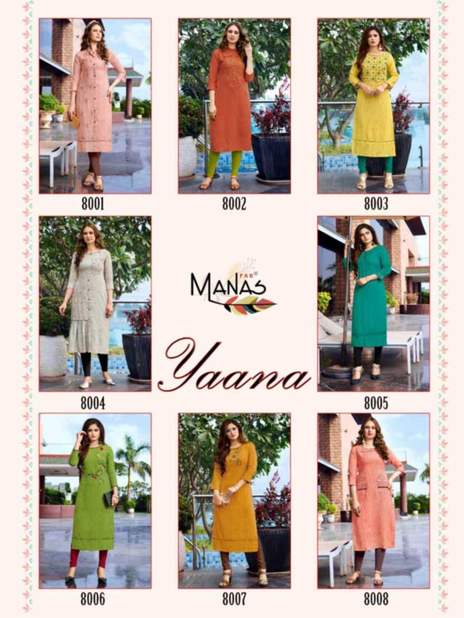 Yaana Zara Rayon Wholesale Kurti Catalog